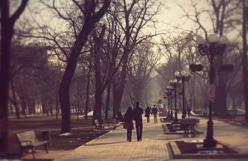 Donetsk el 16 de febrero durante las pocas horas de tranquilidad que hubo tras semanas de bombardeos (Fotografía: A.S.)