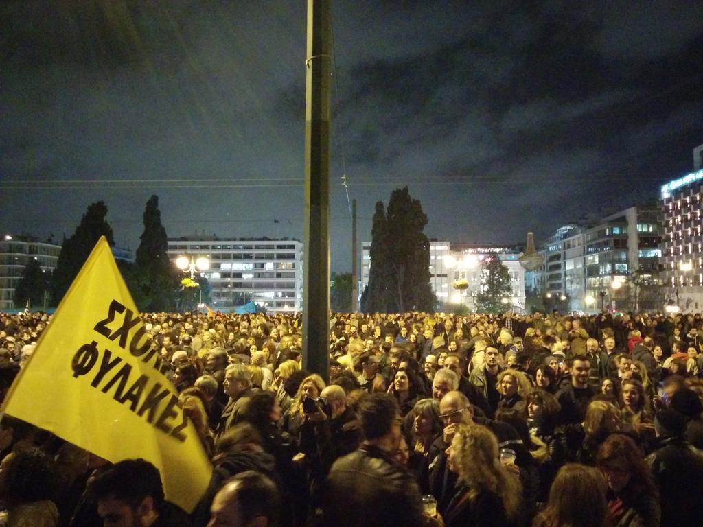 La Plaza Syntagma contra la austeridad. (Fotografíia propia)