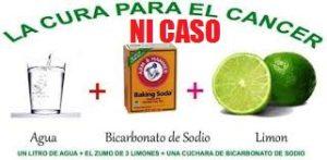 El bulo del bicarbonato anticáncer con o sin limón