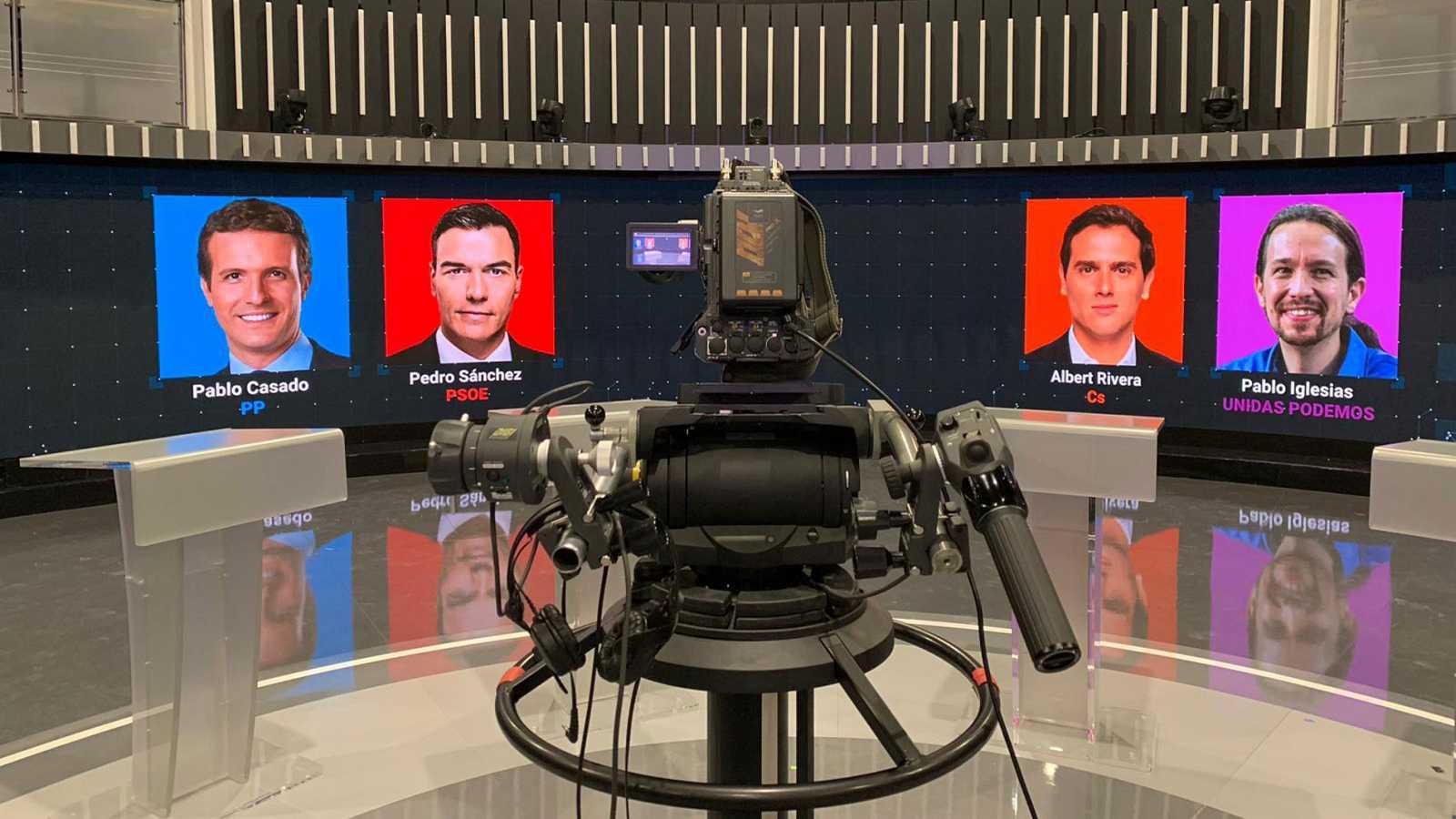 Plató de TVE donde se celebrará el debate entre los cuatro principales candidatos para las elecciones del 28-A.