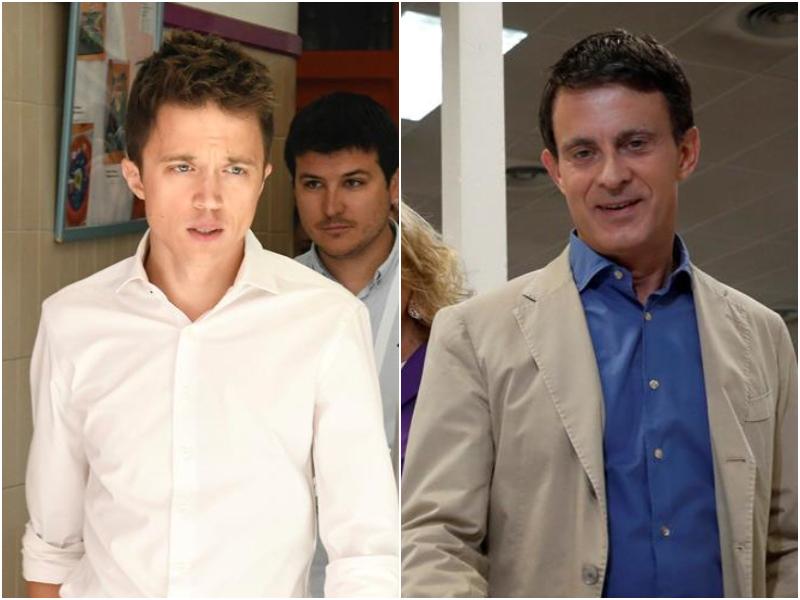 Íñigo Errejón y Manuel Valls. EFE