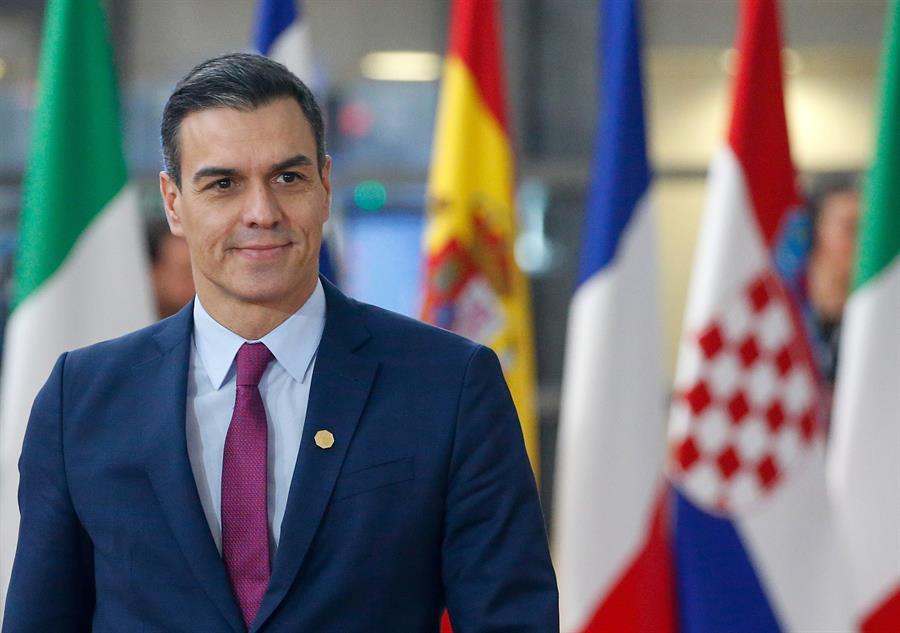El presidente del Gobierno, Pedro Sánchez, a su llegada a la última cumbre de la UE en Bruselas. EFE/EPA/JULIEN WARNAND