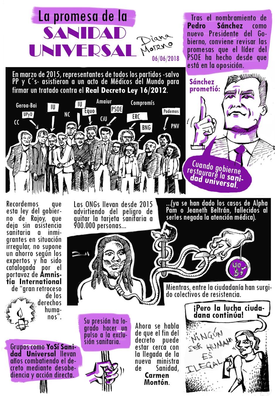 La sanidad universal que prometió Pedro Sanchez