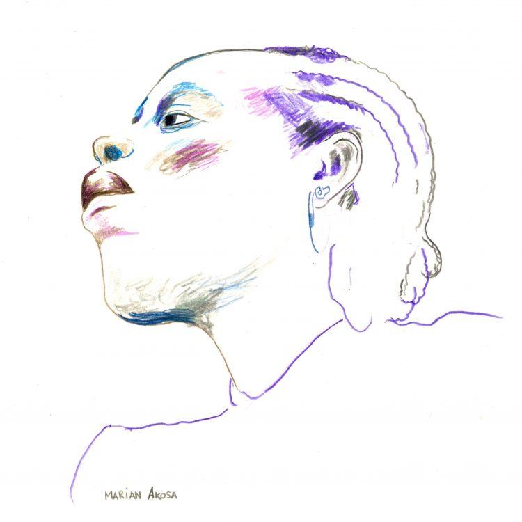 Retrato de Marian Akosa, por David Cárdenas Lorenzo.