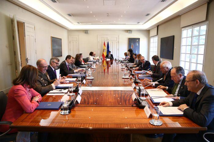 El presidente del Gobierno, Pedro Sánchez, preside en La Moncloa la reunión del Consejo de Seguridad Nacional. Foto: Fernando Calvo.