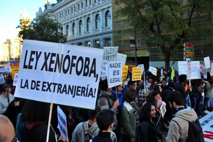 Manifestación antirracista bajo el lema '12N - Por una sociedad sin racismo'. Foto: Poder Migrante.