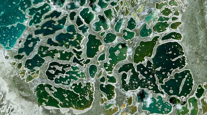 Vista satelital de Kiribati. Foto: Robert Stone - Google Earth / CC BY-ND 2.0