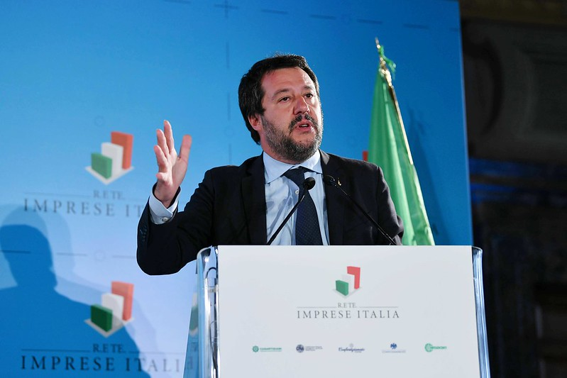 Matteo Salvini, ministro del Interior y vicepresidente de Italia. Foto: Confartigianato Imprese / CC BY-NC-SA 2.0