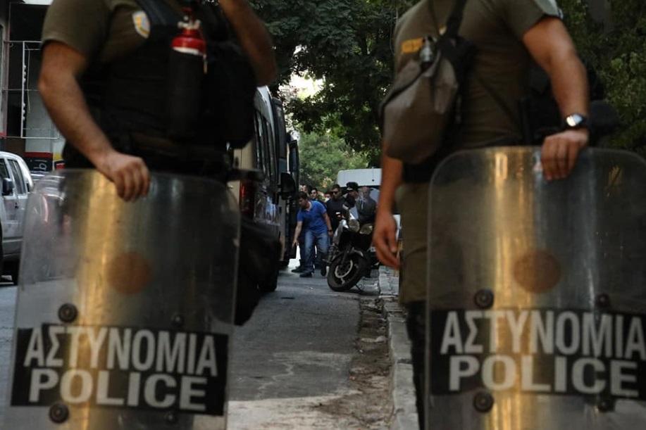 Desalojo de un 'squat' en Atenas (26 de agosto de 2019). Foto: Spirou Trikoupi 17