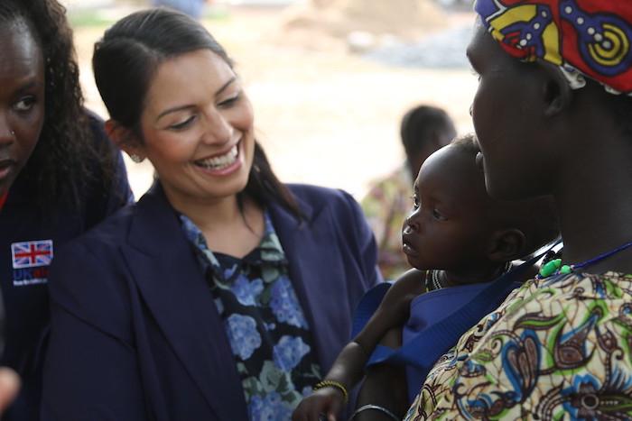 Priti Patel en Sudán del Sur