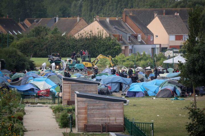 Desmantelamiento de la jungla de Calais en septiembre de 2019. Foto: Care4Calais.