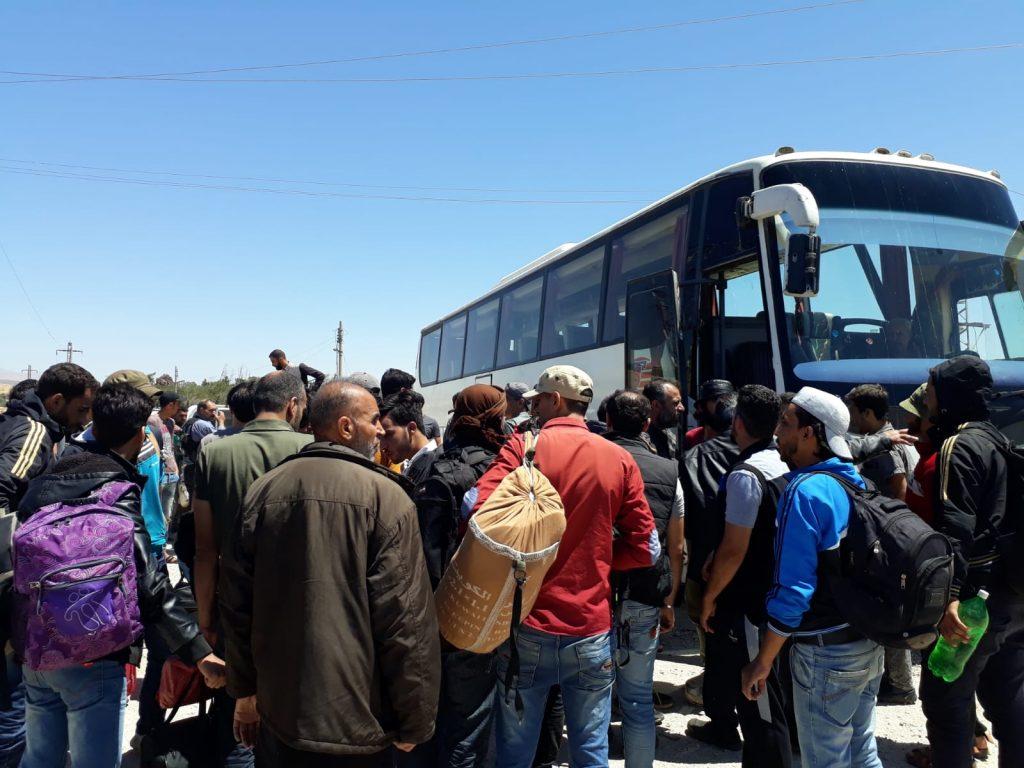 Fotografía tomada durante el desplazamiento en bus. Foto: Okba Alzobani.