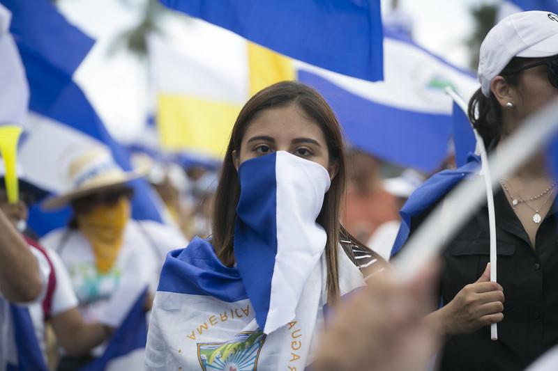 Protesta en Managua (julio de 2018). Foto: Jorge Mejía Peralta / CC BY 2.0