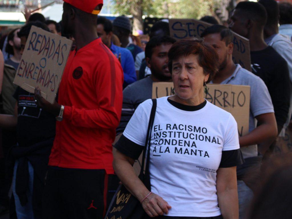 Maite Zabalza (Red Interlavapiés) denuncia el colapso de citas en Extranjería / Foto: Arturo Martín.