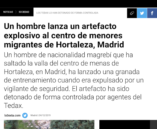 Pie: Captura de la noticia de La Sexta: