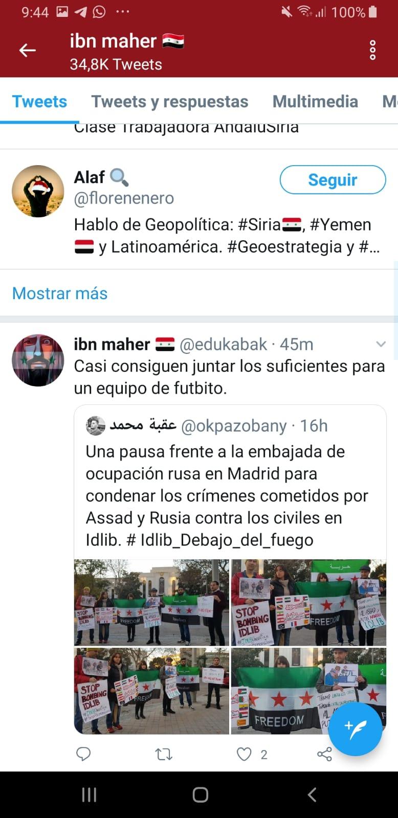 Extracto de la cuenta de twitter de @Okpazobany