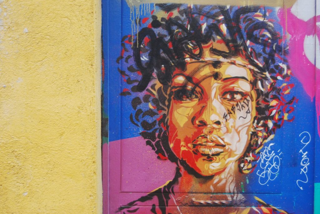 Retrato en una pared de Lavapiés / Foto: Diana Moreno