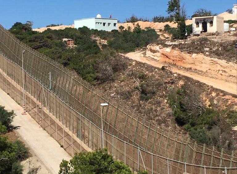 La valla de Melilla en 2018. @lularoal