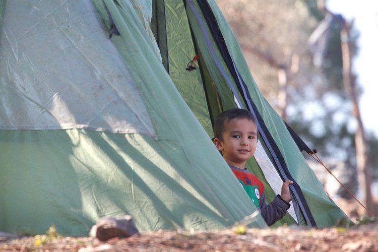 Niño en el campo de refugiados de Lesvos, Grecia / Steve Evans (CC BY-NC 2.0)