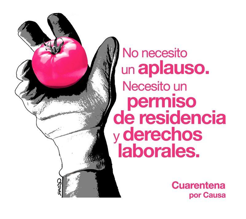 Derechos no aplausos por César Astudillo para la campaña CUARENTENA por Causa