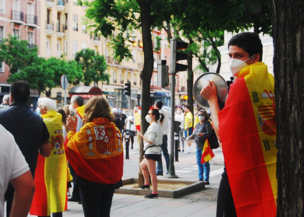 Concentración en el metro Ibiza en Madrid / Diana Moreno