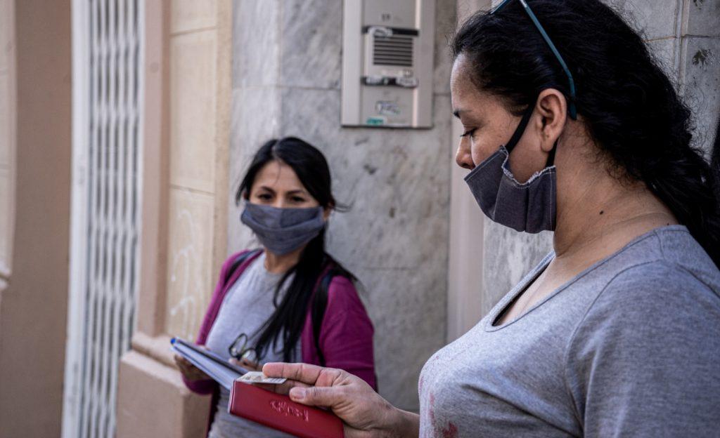 Recogida de alimentos organizada por el Sindicato /  Sindicato de Mujeres Cuidadoras Sin Papeles de Barcelona