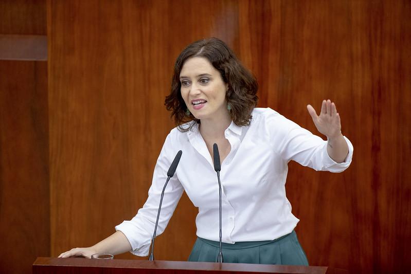 Isabel Díaz Ayuso, presidenta de la Comunidad de Madrid. Foto: PP.