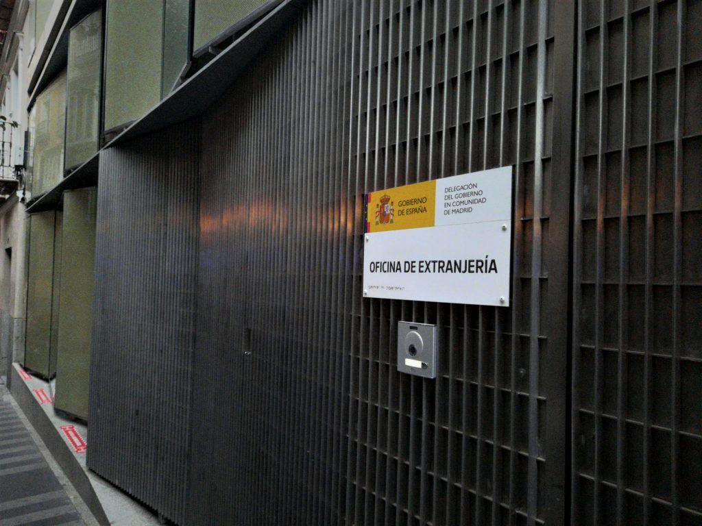Oficina de extranjería.