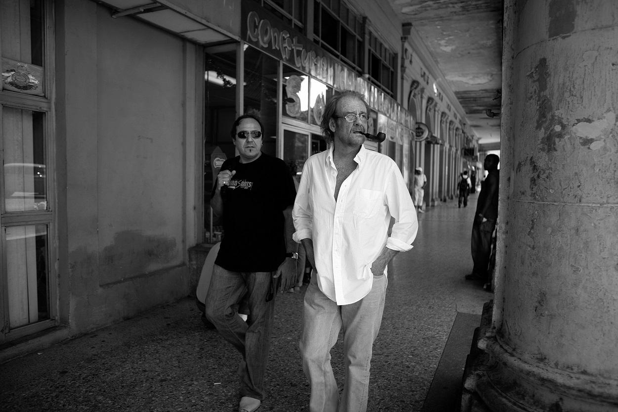 Luis Eduardo Aute y Pere Camps en marzo de 2008 en La Habana. FOTO: JUAN MIGUEL MORALES
