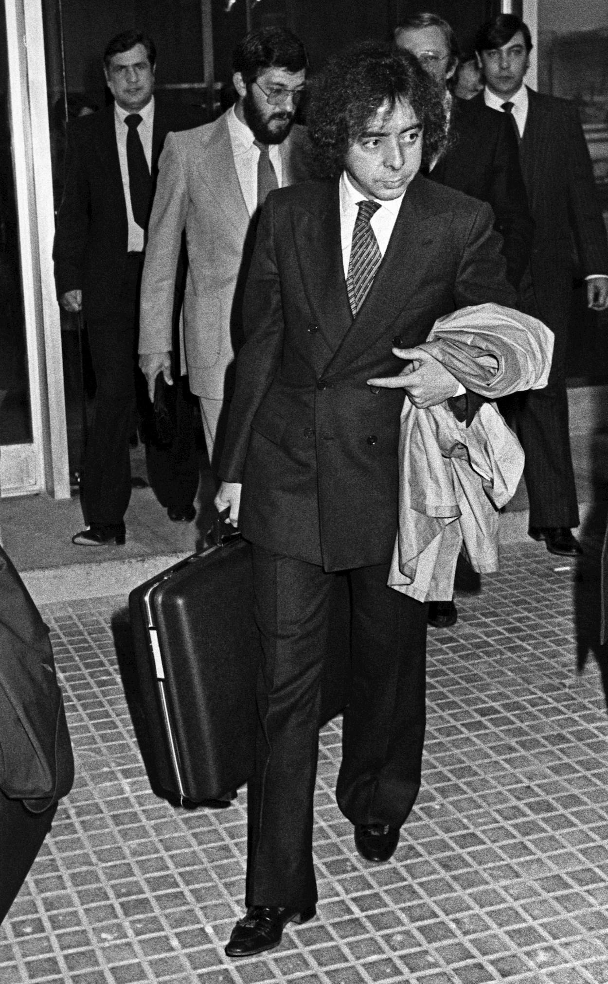 Fotografía de archivo, de noviembre de 1981, del expolicía de la Brigada Político Social del franquismo Antonio Fernández Pacheco, Billy el Niño, acusado de crímenes de lesa humanidad por torturas durante los últimos años de la dictadura. EFE
