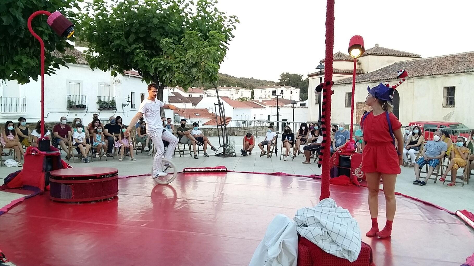 Noche blanca de la cultura en Aracena 2020 llevada a cabo cumpliendo las medidas de seguridad / Ayuntamiento de Aracena