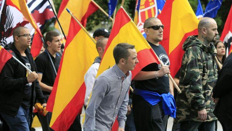 Manifestación de ultraderecha en Barcelona. EFE