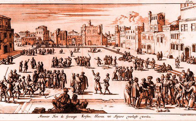 Mercado de esclavos en Argel