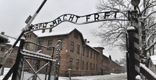 Entrada al campo de concentración nazi de Auschwitz. EFE
