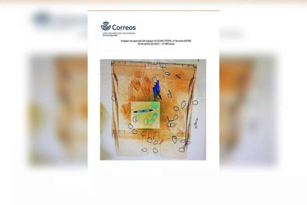 Contenido de las cartas con balas vistas por escáner.- EUROPA PRESS