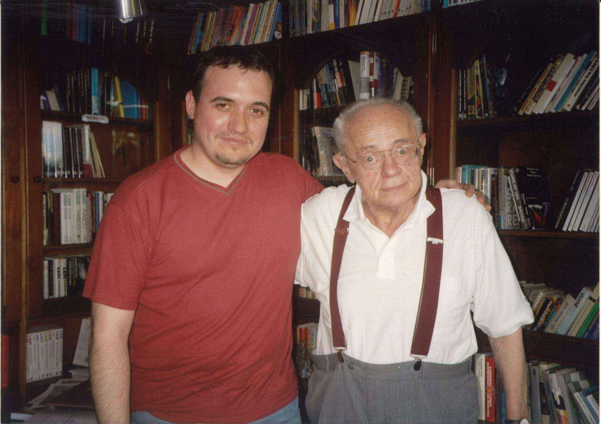 El autor David Torres junto a  Stanislaw Lem.- Joanna Bardzinska