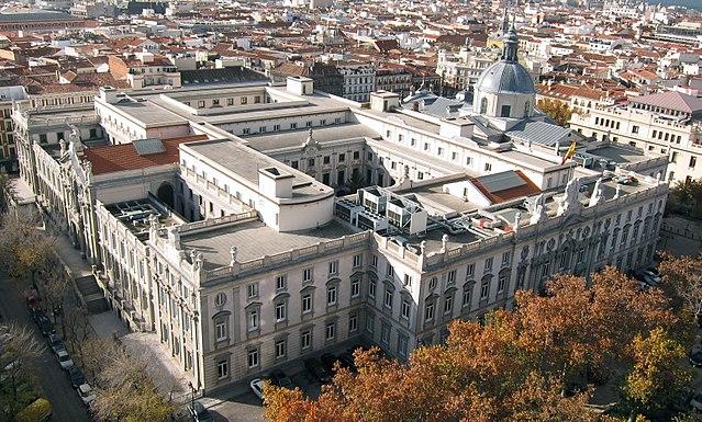 Edificio del Tribunal Supremo, en Madrid.