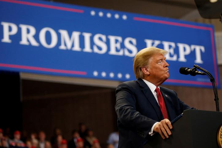 El presidente de EEUU, Donald Trump, en un acto político en Rochester (Minnesota). REUTERS/Leah Millis