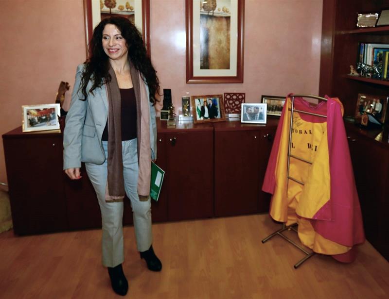 La nueva consejera andaluza de Igualdad, Rocío Ruiz (Ciudadanos), en Sevilla durante la constitución del Consejo Territorial de la ONCE de Andalucía. EFE/José Manuel Vidal