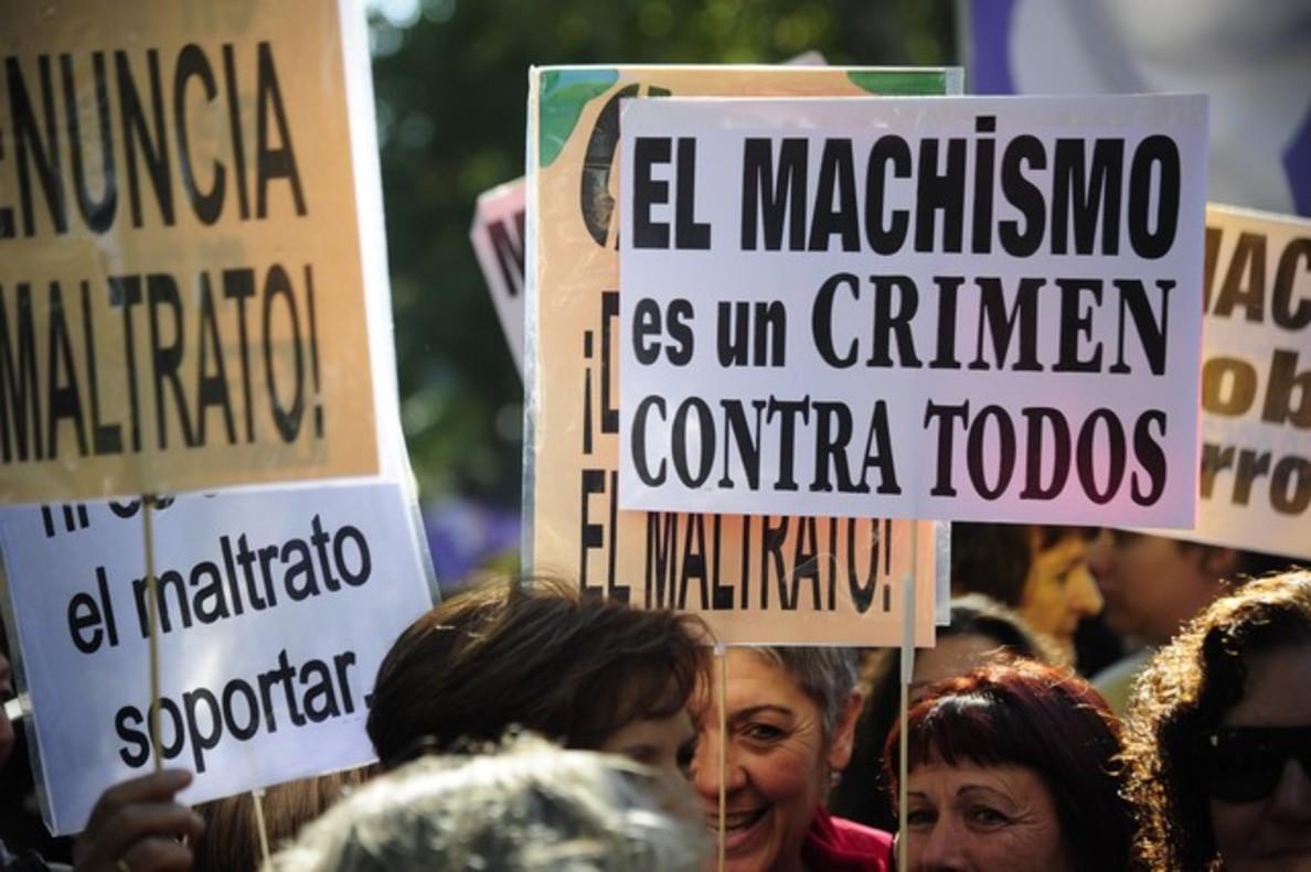 Manifestación contra la violencia machista, en Madrid. AFP/Curto de la Torre