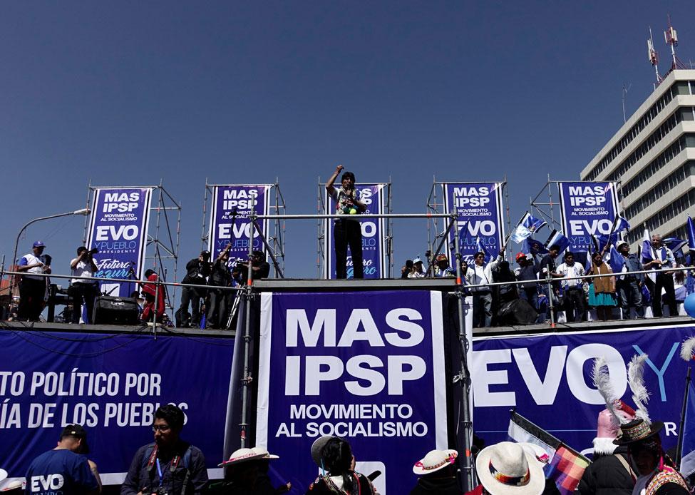 El presidente de Bolivia, Evo Morales, en un acto de la campaña electoral. REUTERS/David Mercado