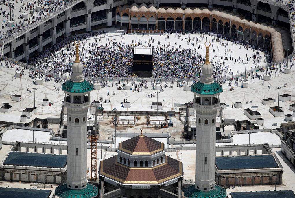 Una vista aérea de la Kaaba en la Gran Mezquita en la ciudad sagrada de La Meca (Arabia Saudi). REUTERS / Umit Bektas