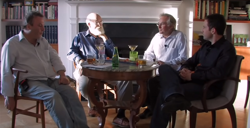 Christopher Hitchens, Daniel Dennett, Richard Dawkins y Sam Harris, en una imagen de 2007.