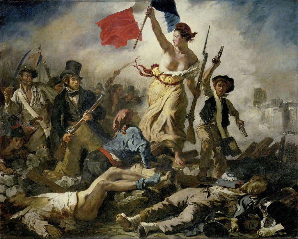 Cuadro 'La Libertad guiando al pueblo', de Eugène Delacroix (1830)