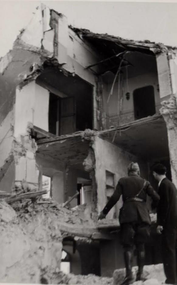 Imagen de Cabra tras el bombardeo.