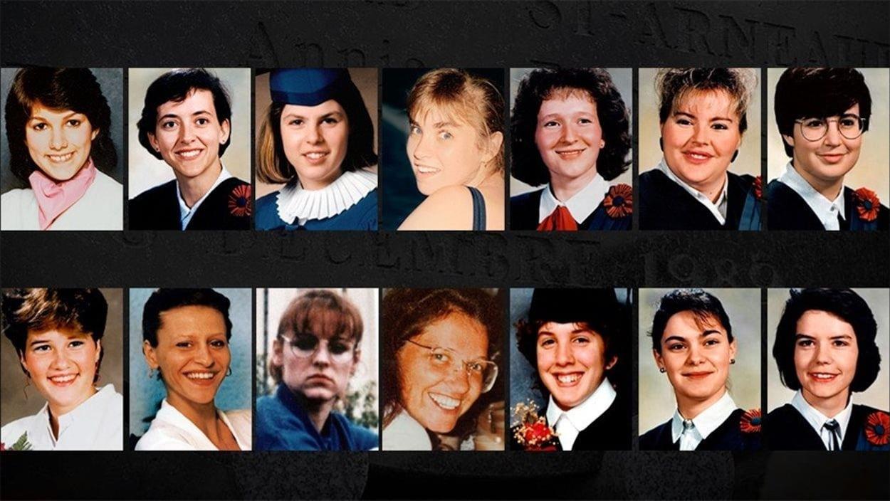 Las 14 jóvenes víctimas de la masacre de la Escuela Politécnica de Montreal.