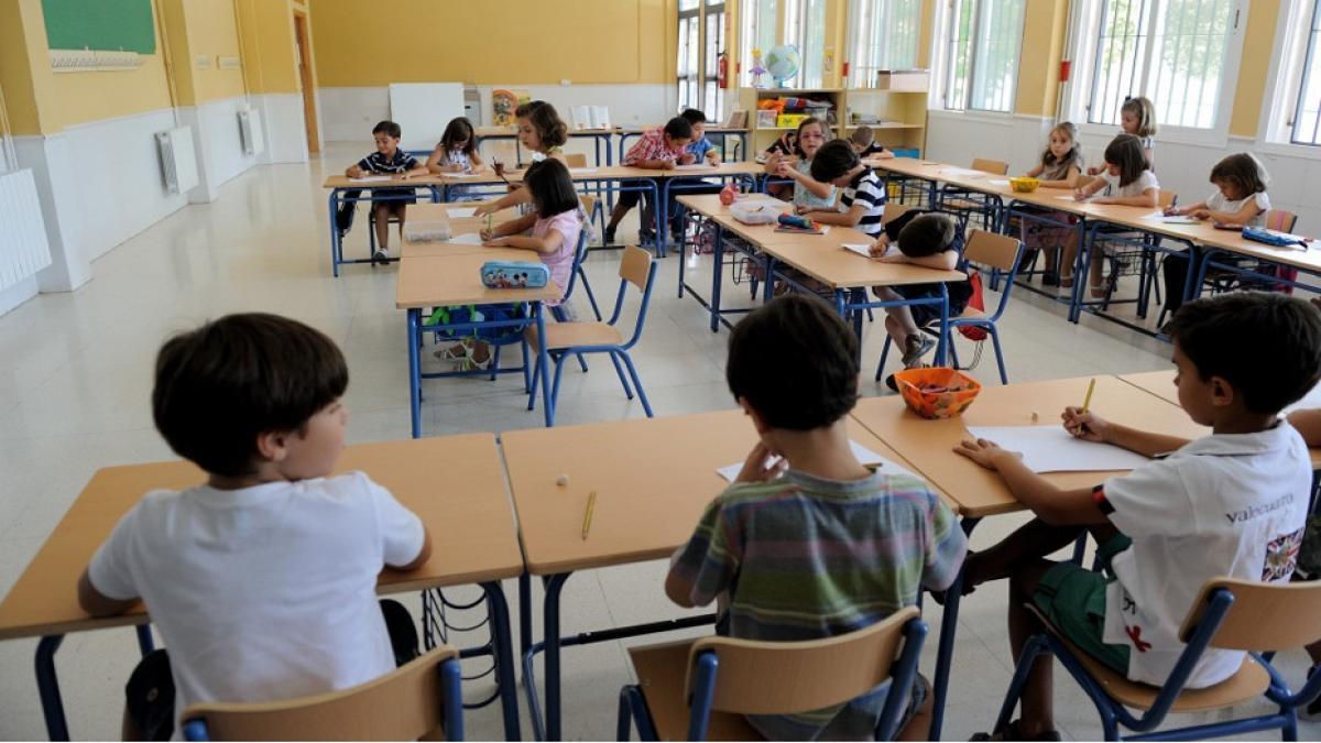Alumnos andaluces en el aula de un colegio de Primaria. E.P.