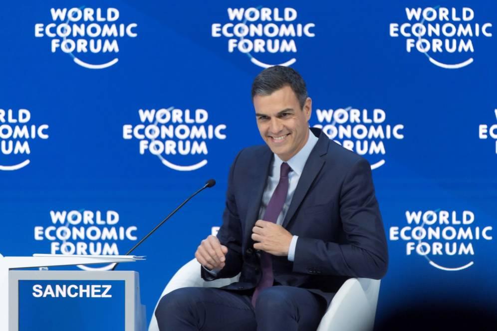 Pedro Sánchez, en el Foro Económico Mundial, ebn Davo (Suiza), en febrero de 2019. EFE