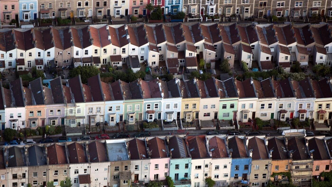 Vista de viviendas de un barrio de Londres.