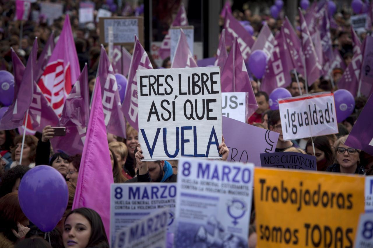 Manifestación del 8M de 2018 en Madrid. EFE